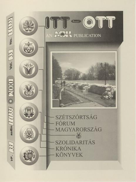 2000 - 33. évf., 1 szám