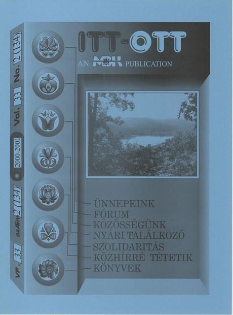 2000 - 33. évf., 2 szám