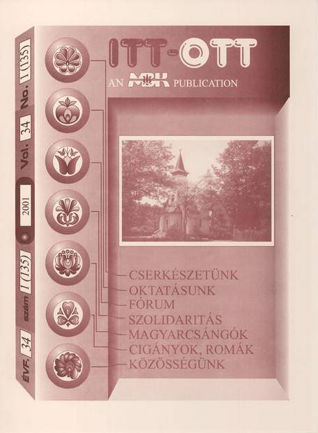 2001 - 34. évf., 1 szám