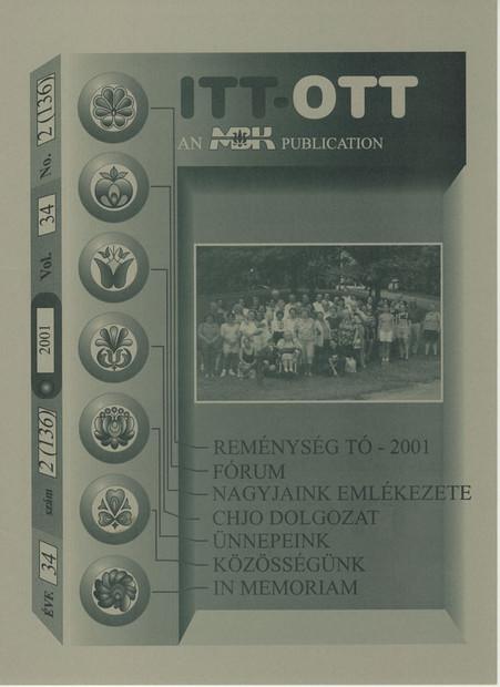2001 - 34. évf., 2 szám