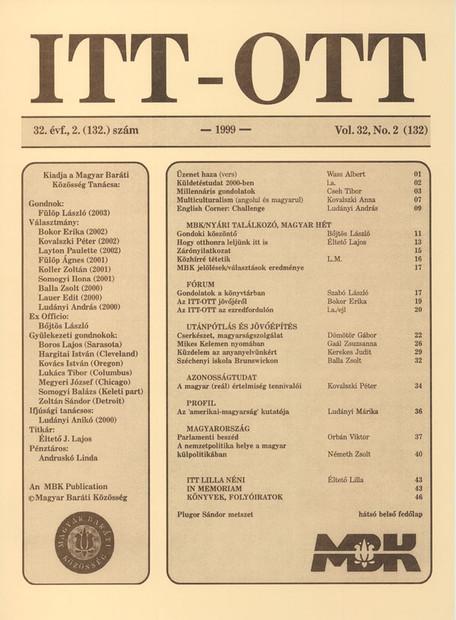 1999 - 32. évf., 2 szám