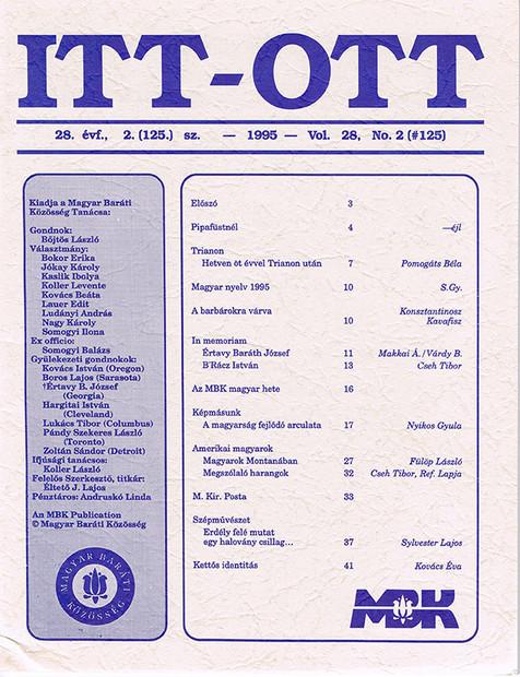 1995 - 28. évf., 2 szám
