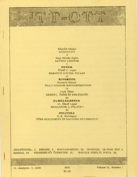 1978 - 11. évf., 1 szám