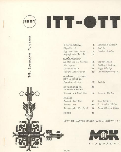 1981 - 14. évf., 1 szám