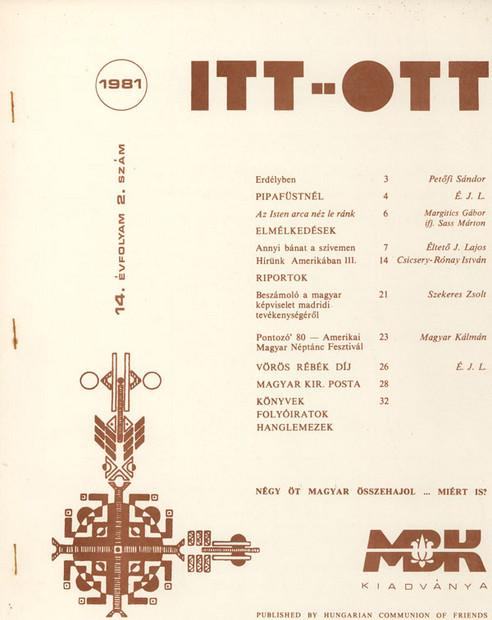 1981 - 14. évf., 2 szám