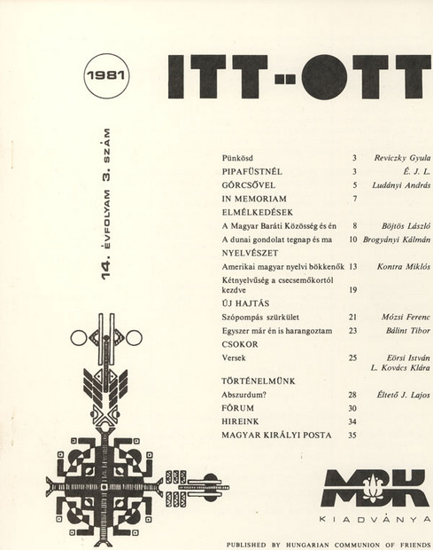 1981 - 14. évf., 3 szám