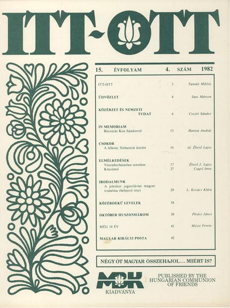 1982 - 15. évf., 4 szám