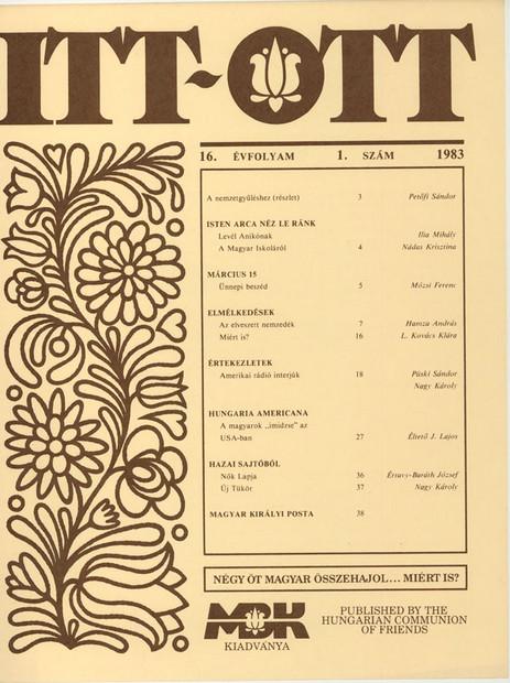 1983 - 16. évf., 1 szám