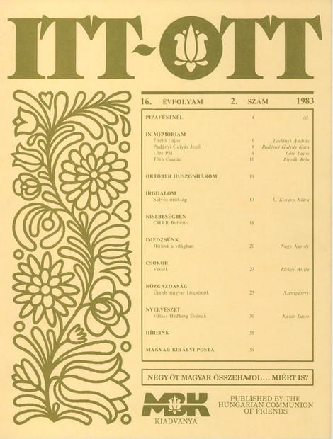 1983 - 16. évf., 2 szám