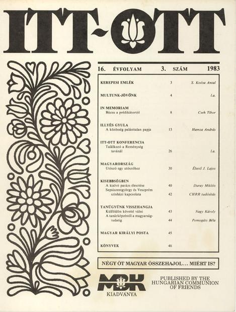 1983 - 16. évf., 3 szám