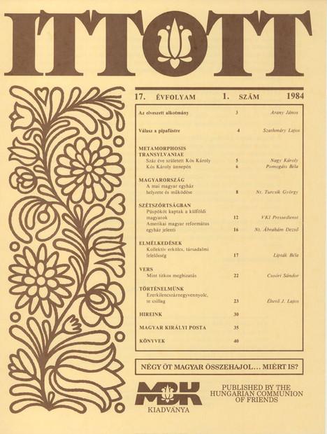 1984 - 17. évf., 1 szám