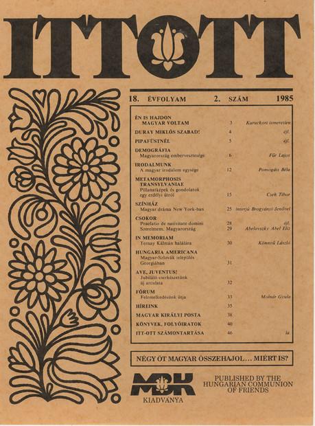 1985 - 18. évf., 2 szám