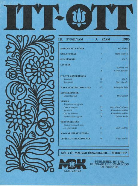 1985 - 18. évf., 3 szám