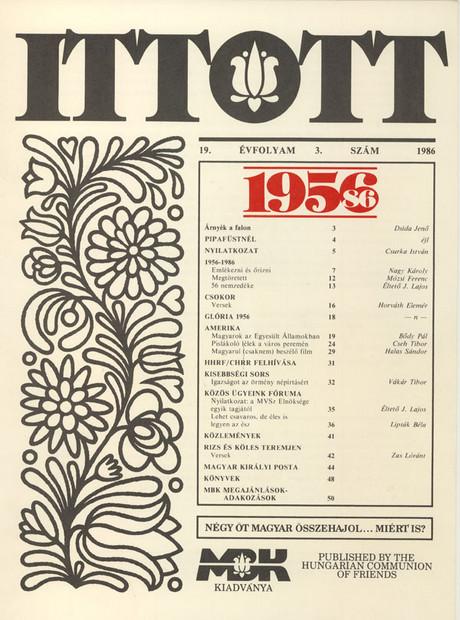 1986 - 19. évf., 3 szám