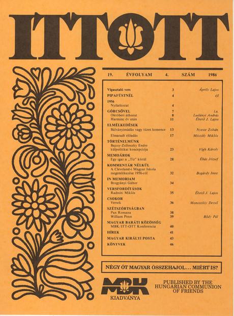 1986 - 19. évf., 4 szám