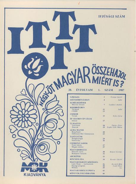 1987 - 20. évf., 1 szám
