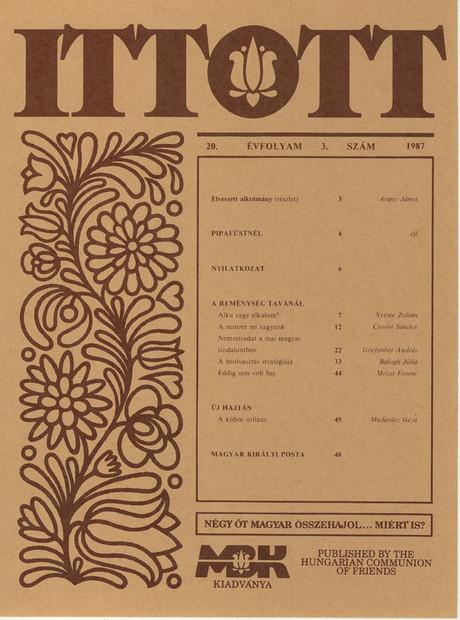 1987 - 20. évf., 3 szám
