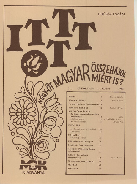 1988 - 21. évf., 1 szám