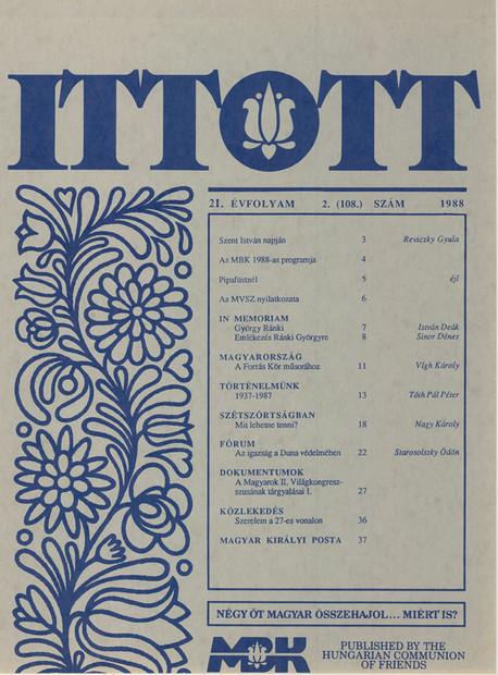 1988 - 21. évf., 2 szám