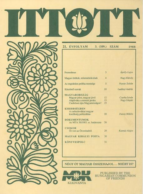 1988 - 21. évf., 3 szám