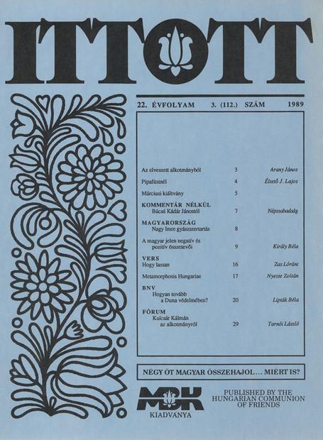 1989 - 22. évf., 3 szám