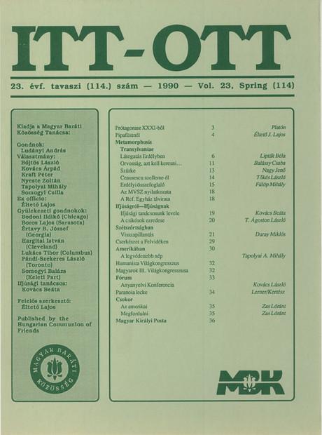 1990 - 23. évf., 1 szám