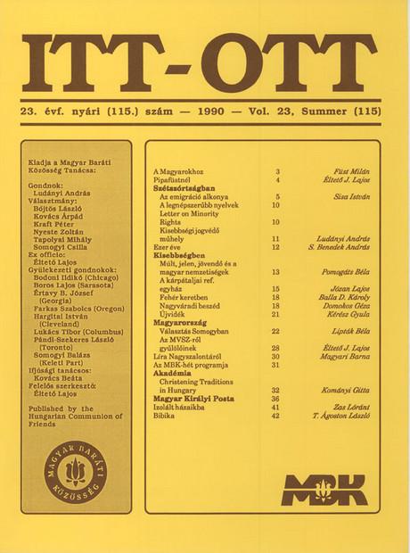 1990 - 23. évf., 2 szám
