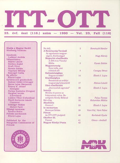 1990 - 23. évf., 3 szám