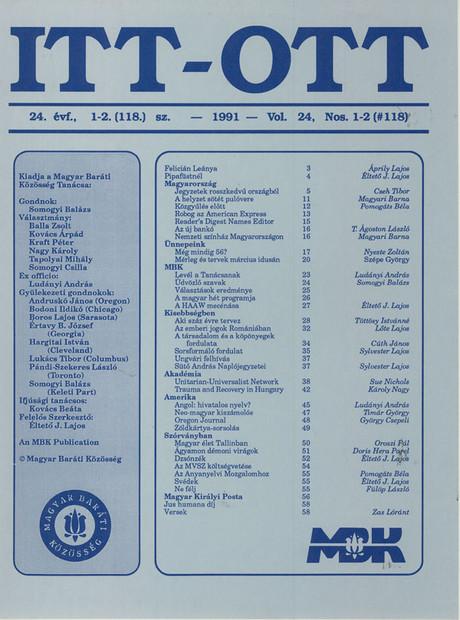 1991 - 24. évf., 1-2 szám