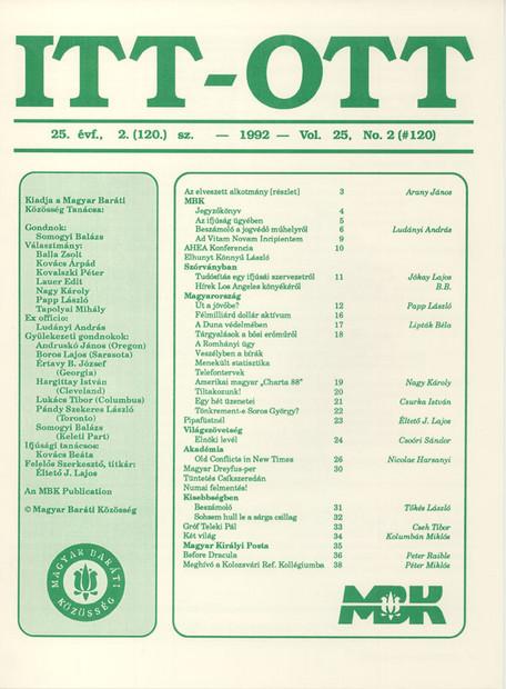 1992 - 25. évf., 2 szám