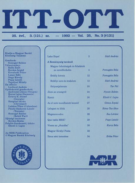 1992 - 25. évf., 3 szám