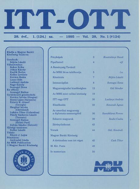 1995 - 28. évf., 1 szám