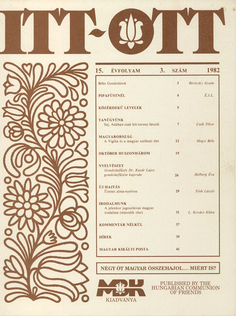 1982 - 15. évf., 3 szám